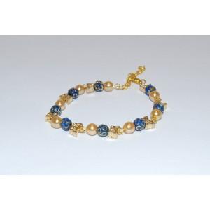 Blue & Gold Butterfly Bracelet