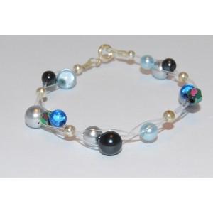 Blue Glass Pearl Bracelet