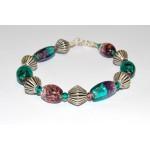 Chunky Purple & Turquoise Bracelet