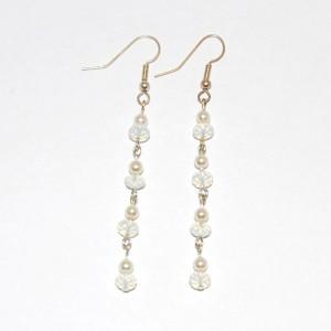 Dangling Moonstone Earrings