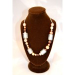 Chunky Brown/Clear Bead Necklace