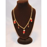 Red Pearl Butterfly Necklace