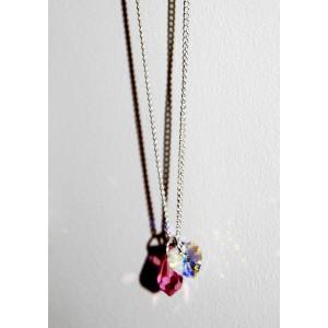 Swarosvki Heart & Pearl Drop Necklace