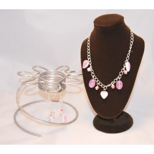 Pink Coral Heart Drop Set